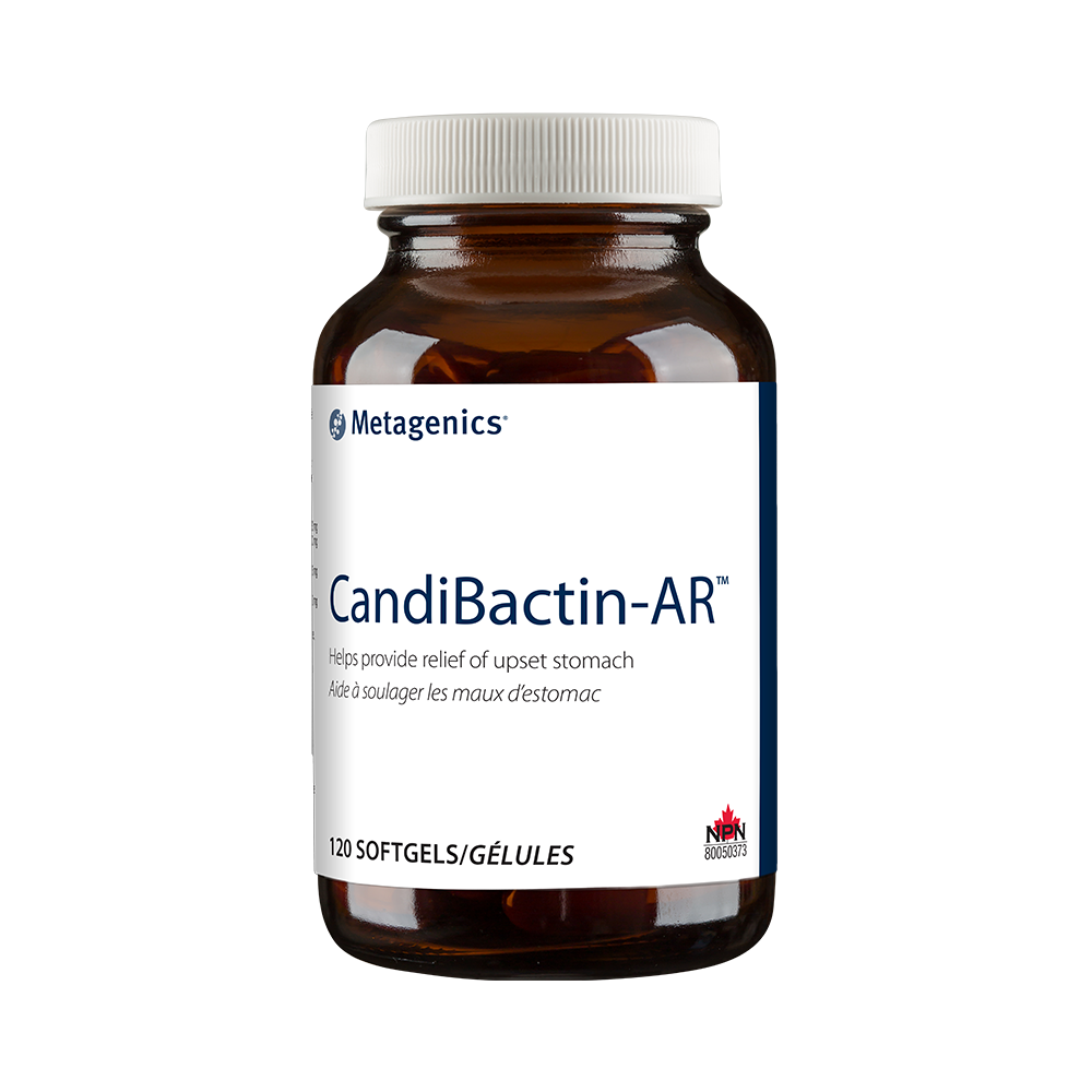 Candibactin AR - 120 capsules. Helps provide relief of upset sto